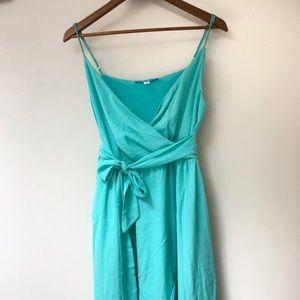 Francesca's Mint Faux Wrap Dress